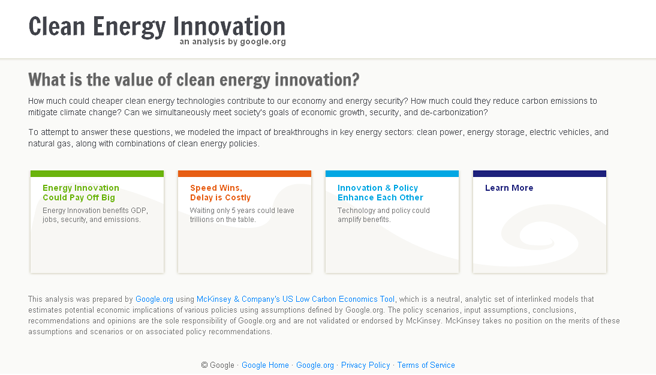 Clean energy website mockup